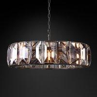 Yuvarlak Kristal Avize Aydınlatma Oturma Odası Yatak Odası Asılı Lamba Lüks Altın Işık Fikstür AC 100-240 V Ücretsiz DHL