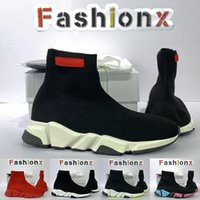 Balenciaga SPEED 1.0 knitted cotton socks shoes 2021 spiridon caged Casual runner shoes Metallic Silver Lemon Venom Pistachio Frost speed womens mens trainers sports sneakers