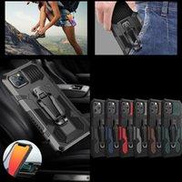 2021 Defender Shockproof Cases For Samsung A01 A11 A21 A21S A41 M01 Core M31 M51 A42 5G A12 A32 A02 Holster With Clip Belt Support Car Mount Hard Plastic TPU Hybrid Skin