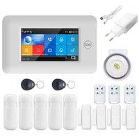 1set Sécurité de la maison sans fil WiFi GSM GPRS GPRS Système d'alarme APP Appareil de télécommande Désarmez le kit avec écran coloré1