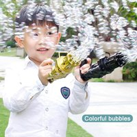 Kids Automatic Gatling Bubble Gun Toys Summer Soap Water Machine 2-in-1 Electric For Children Gift Party Favor