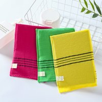Korean double-faced towel Sponges exfoliating bath towels body baths scrub portable shower for grown-ups thick