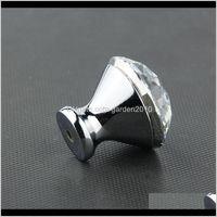 Handles & Cabinet Pulls Crystal Der Knobs Handle Door Wardrobe Dresser 30Mm Xq8Az Yagz8