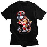 Men's T-Shirts Summer 2021 T-shirt Motorcyclist Mark Signature 93 Design Printed Cotton Casual Hip Hop Short Sleeve O-Neck Street Top