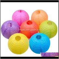 Rodada de papel chinês lanternas presentes artesanato diy festa de festa de festa de bola de aniversário decoração de casamento nc6tc mwjtd