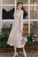Autumn Women Slim Fashion Designer Runway Chic Casual Holiday Bandage Party Dress 210515