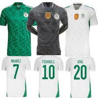 Maillot Algerie 2020 2021 Jersey de futebol Casa longe Mahrez Bouncerjah Feghouli Bennacer Atal 20 21 Argélia Maillot de pé