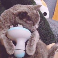 القط لعب الحيوانات الأليفة الكهربائية مدلك الأسطوانة القطط الكلاب رئيس الاسترخاء usb شحن shiastu تدليك الراحة دليل الاستمالة اللوازم المنزل