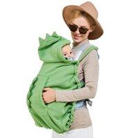 Transportadoras, lingas mochilas Baby Carrier Cover Capuz Capuz Manto Multifuncional Desenhos Animados À Prova de Windproof Born Engrossado Morno