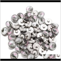 Arts And Crafts 10Pcslot Elegant Lotus Buttons Glass Charm Button Jewelry For 18Mm Snaps Bracelet Snap Jewel Jllldc F2C8W 5Dsx3