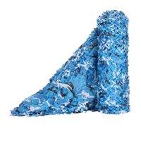 3x3 4x4 البحر الأزرق التمويه شبكات عززت للخارجية المظلة حديقة الديكور الظل إخفاء شبكة خيام المحيط والميلون