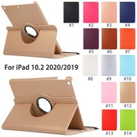 360 Degree Rotating Tablet Cases for Apple iPad 10.2 [7th 8th Generation] Air 4 3 [4th 3rd Gen] Pro 11 10.5 inch, Multi View Litchi Texture PU Leather Flip Stand Cover
