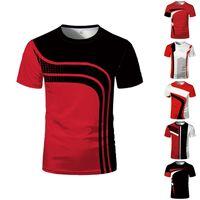 Verão gráfico camiseta 3D Digital Forma de manga curta magro e feminino t-shirt dos esportes por atacado
