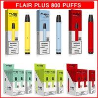 Flair Plus Disposable Vape E cigarettes 800 Puffs Pen Devices 3.5ml Pre-Filled Pods Cartridges Vaporizers 550mAh Battery Vapor Air Bar Puff Plus FOG MAX