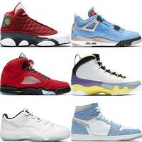 13 13s Red Flint 2021 Raging Boğa Retro Basketbol Ayakkabı Üniversitesi Altın Mavi Gümüş Toe 1 1 S Jumpman 9 9 S Değerlendirme Dünyası Hiper Kraliyet 5 5 S Erkek Erkek Spor Sneakers