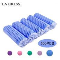 500 teile / los Einweg-Applikator Micro-Bürsten für Wimpernverlängerung Peitschen Reinigung Lippenbürste Sticks Makeup-Werkzeuge1