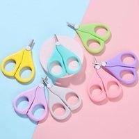 Baby Nail Scissors Curto Kids Unhas Cuidadores Cuidadores Segurança Aço Inoxidável Cabeça Redonda Scissor GWC7238