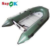 Radeaux / bateaux gonflables de haute qualité 3-4 personne en caoutchouc gonflable, bateau de pêche Bateau à rames PVC Bateau de sauvetage pliable