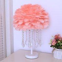 Lampes de table Badminton Hemisphere Lampe Chambre Chambre Légère Luxe Cristial Cristial Girl Princesse Net Rouge Romantique Romantique Decoration de mariage