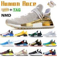 2019 nuova razza umana Scarpe da corsa NMD Pharrell Williams Hu percorso inchiostro Oreo Nobel nero Nerd Designer Scarpe Sneakers Uomo Donna Sport 36-47