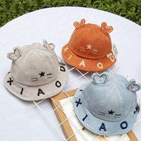 Cloches otoño bebé pescador sombrero pana hola hola cinco puntas estrella gato orejas salvaje dibujos animados niños marea casual casquillo