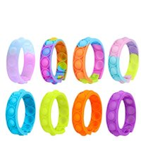 bracelets fidget toys pack for kids favor mini simple dimple digit push bubble popping siilicone wristband bay and girl sensory decompression toy 50pcs
