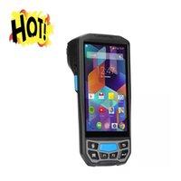 작은 견고한 안드로이드 핸드 헬드 휴대용 SIM 상업용 프린터 용 5 인치 영수증 프린터 터미널 바코드 스캐너