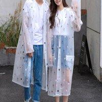 Raincoats SHZQ Transparent Raincoat Rain Coats Long Big Size Cloak Poncho Women Men's Waterproof Cute Cartoon Printing Clear Jacket C