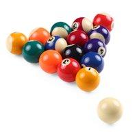 Çocuk Bilardo Masa Topları Set Billardık Reçine Küçük Havuz Cue Tam Snooker Bilardo Aksesuarları 25mm / 38mm