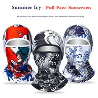 الصيف ركوب ملثك كاب الجليد الحرير القبعات الذكور الشمس قناع الوجه قناع دراجة نارية في الهواء الطلق الصيد أغطية الرأس