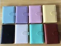 5 Farben A5 leeres Notebook Binder 17.5x23cm lose blatt notebooks ohne papier pu faux leder deckendateiordner spiralplaner scrapbook