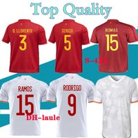 Spanien Rodrigo Jersey Ramos Pique 21 22 Asenssio Morata Isco Insta Football Hemd Auswärts Uniformen Männer + Kinder