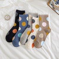 Instime 2021 New Big Dot Cotton Socks Women Kawaii Women Socks Sweat Autumn and Winter