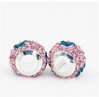 Blume Polymer Ton Kristall Charme Perle 925 Silber Überzogene Mode Frauen Schmuck Europäischen Stil Für Pandora Armband Halskette 50 W2