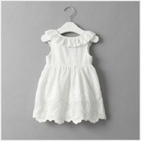 Girl's Dresses Summer Open to Folds with Bow for Baby 2021 Steering Wheel Bridesmaid Es Girls