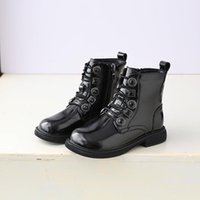 Boots Kids Winter Baby Girls Fashion Ankle Shoes Children Genuine Leather Brand Boys Black Rome