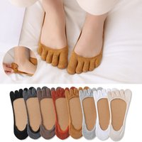 Summer Five Finger Socks Shallow Mouth Invisible Boat Women's Solid Color Breathable Cotton Split Toe