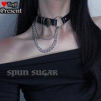 Gothic Lolita Cosplay Mädchen Metall Spike Choker PU-Lederkragen Halskette Punk-Aussage Schmuck Frauen Nacken Zubehör Halsschärfe