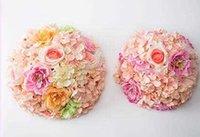 Bola de flor Beijando bola mesa de mesa titular flores decoração casamento para festa decoração casamento flor peça central para mesa