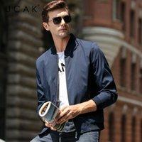 Giacche da uomo Ucak Brand Uomo Abbigliamento Streetwear Vestiti Giacca a strisce Blouson Homme Casual Primavera Arrivo Zipper Cappotto U8070