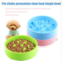 Здоровая еда Собаки Чаши Cat Щенок Кормление Медленно Корм для домашних животных Фидер