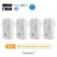 Smart Power Plugs Tuya Google Home Home 220V Prese elettriche 4 Pacco Socket ITALIA Plug WiFi 16A con monitor energetico