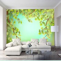Wallpapers Drop Wallpaper 3d Beautiful Modern Minimalist Tree Mural Wall Living Room Bedroom El Restaurant