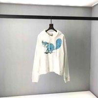 2021ss SweatShirt Sweat Sand Summer Nouveau Coton de haute qualité Impression à manches courtes Panneau rond T-shirt Tableau: M-L-XL-XXL-XXXL Couleur: Blanc Blanc QQ18