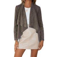 Fashion Women's Jackets Autumn Winter Blazer Women Loose Casual Jacket Cardigan Solid Streetwear Velvet Lapel Office Suit Outerwear