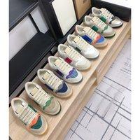 Lady Düz Rahat Ayakkabılar Nefes Örgü Deri Sneaker Harfler Dantel-up Kadın Ayakkabı Moda Platformu Yeni Erkekler Run Tuval Ayakkabıları Büyük Boy 35-41-42-45 US4-US11