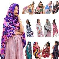 Bufandas 13 colores Mujeres étnicas vacaciones viento bufanda coloreado hoja tropical floral estampado grande chal bikini multi-uso encubierto con borlas