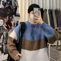 Loose Tops Female Male Casual Autumn Spring Color Sweatshirt Cool Sweater School Girls Streetwear Chic Japan