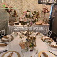 High Quality Artificial Flower Ball Table Centerpiece Wedding Road Lead With Peony And Rose Leaves Decorative Flowers & Wreaths