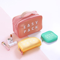 Cosmetic Bag Portable Lipstick Storage Bags EASY PACK Letter Toiletry Kits Bags Wash Pouch Travel Essential